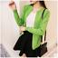 new Autumn Korean fashion leisure loose cardigan thin Knitting sweater coat