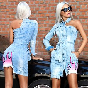 By-Alina-MEXTON-Damenkleid-Partykleid-Jeanskleid-Jeans-Minikleid-34-38-D44