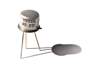 5 Transistoren  KF 517 A = 5 pcs = Si-pnp , 30 V , 0,5 A , 0,8 W , TESLA