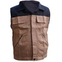 Arbeitsweste 4 Taschen 48 - 58 Berufsweste Bau Weste Arbeitskleidung Arbeit