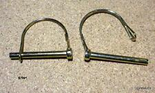 """2 PTO Pins 3 Point Hitch 5/16"""" Farm And Garden Equipment Quick Release Tool Free"""