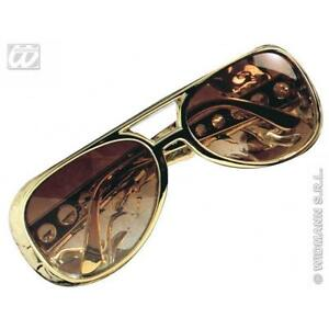 Glasses Elvis N Dress Presley Fancy Sunglasses Prop Gold Roll Rock n0wkPO