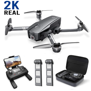 Holy Stone HS720 GPS Drone with 2K Camera Brushless Foldable Drone 2 Batteries