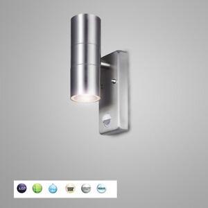 NEU-Edelstahl-Up-and-Down-Wandlampe-Aussenleuchte-mit-Bewegungsmelder-H103200