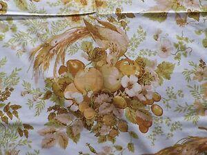 Vintage-1970-039-s-Sanderson-Cotton-Interiors-Fabric-039-Amboise-039-Exotic-Birds-amp-Fruit