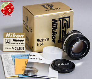 Unused-in-Box-Nikon-Standard-Prime-LENS-Ai-S-NIKKOR-50mm-f1-4-MF-from-Japan