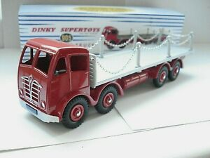 Atlas-Dinky-Supertoys-No-505-905-Red-Foden-Flat-Truck-with-Chains-Mint-boxed