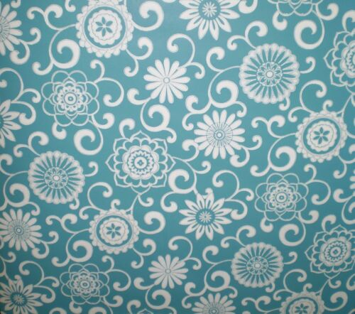 Aqua Blue /& White Pom Pom Play From Waverly Small Prints  by York   WP2436