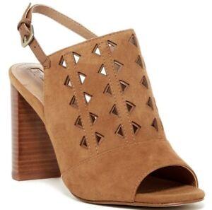 219984ea1f Tahari Marvel Block Heel Open Toe Suede Sandal MAPLE Size 8.5   eBay