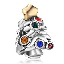 Lots Rhinestones Fine Tree 925 Silver Charms Bead Fit European Sterling Bracelet