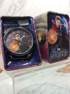 Marvel-Dr-Strange-3-D-Molded-Analog-Watch-With-Tin-Gift-Box-Collector-Case