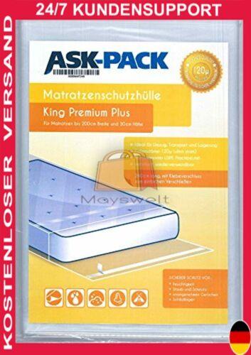 ASK Pack Premium Matratzenschutzhülle King für bis zu 200cm breite 30cm hohe