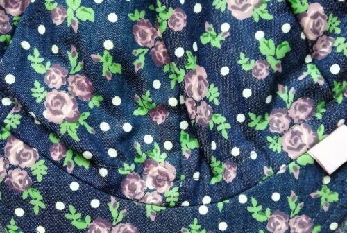 100/% Cotton girls hats SUN NECK PROTECTION Summer CAP size 6-24 Months