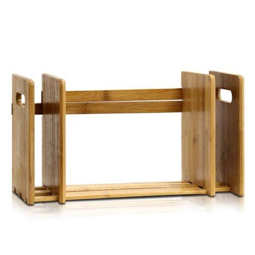 Bamboo Extension Book Rack Bookshelf Desktop Bookcase,Mini Bookshelf Organ J4G2