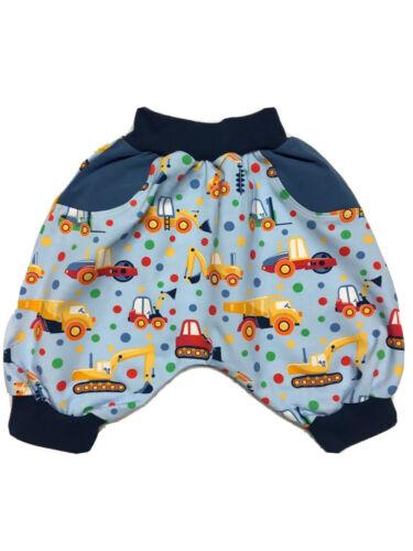 Gr.98//104 oder Gr.104//110 Kurze Pumphose Shorts Babyhose Handarbeit  Neu Jersey