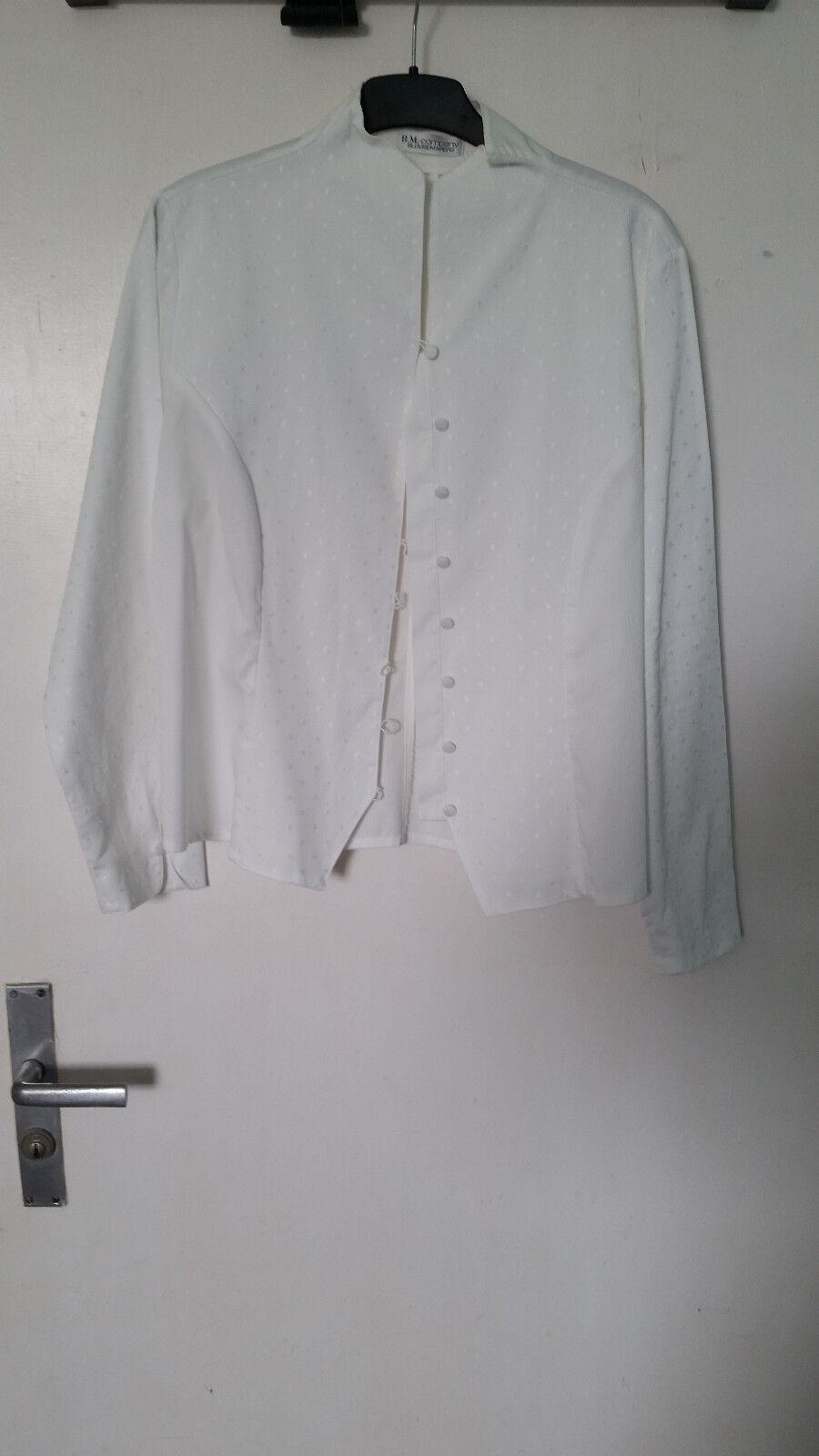 B.M-company blousemakers weiße Blause Größe 46