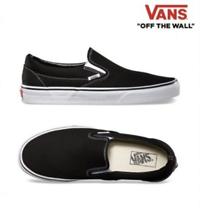 6860f5da66 Image is loading Vans-New-Authentic-Classic-Slip-On-VN000EYEBLK-Black-