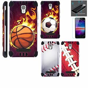 best loved 7a5b1 17ecd Details about For Coolpad Canvas /Splatter Case +TEMPERED GLASS /Brushed  Phone Cover COMBAT K9