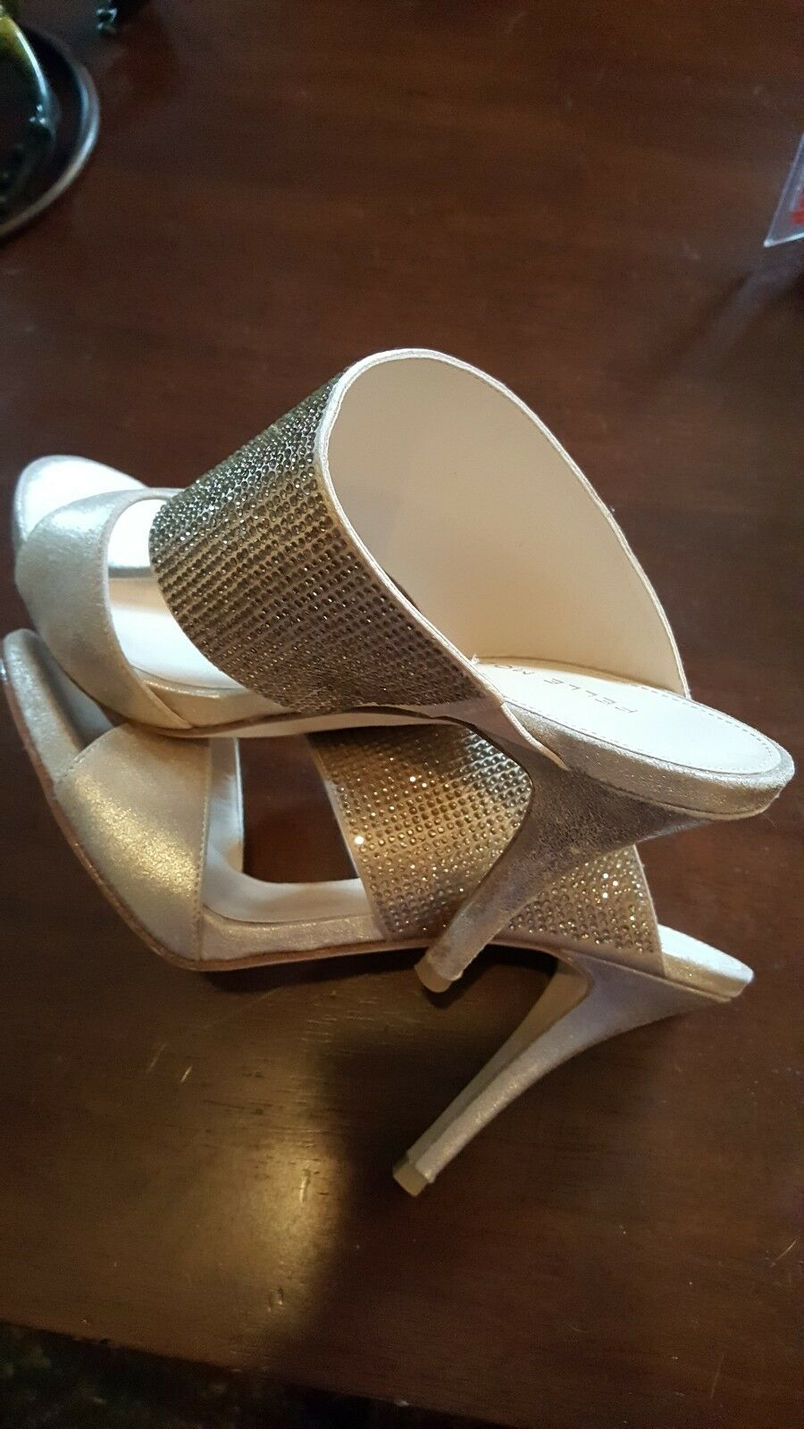 Pelle Moda Gold Glitter Stilettos Damenschuhe Heels Größe Größe Größe 8.5 NEW aaa83e
