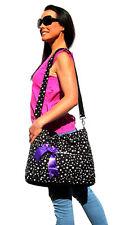 Black Stars Fashion Carry Diaper Nappy Bag  (wipe case and pram strap inc) NEW