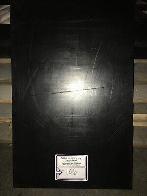 "Black Reprocessed UHMW Wear Strip 1//4/"" x 1-3//4/"" x 10 FT"