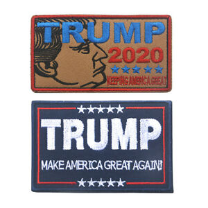 Embroidery TRUMP MAKE AMERICA GREAT AGAIN Sew Iron On Patch Badge Hat Applique B