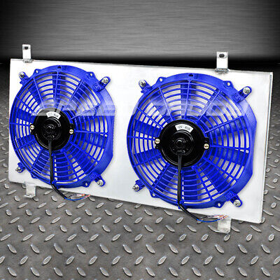 FOR 08-11 IMPREZA WRX STI RED ALUMINUM 10-BLADE RADIATOR COOLING FAN+SHROUD KIT