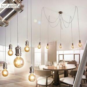 runde Hänge Lampen weiß Pendel Leuchten Retro Wohn Schlaf Ess Zimmer Beleuchtung