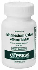 Cypress Magnesium Oxide 400mg Tablets 120ct