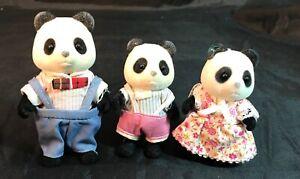 Calico-Critters-Sylvanian-Families-Vintage-Bamboo-Panda-Family