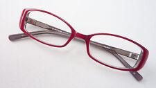 Fassung Frauen Brille rot Kunststoff Gestell Flexbügel schmale Glasform GR M