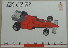 Ferrari Galleria 1993 126C3 F1 1983 Card Karte brochure prospekt book buch press