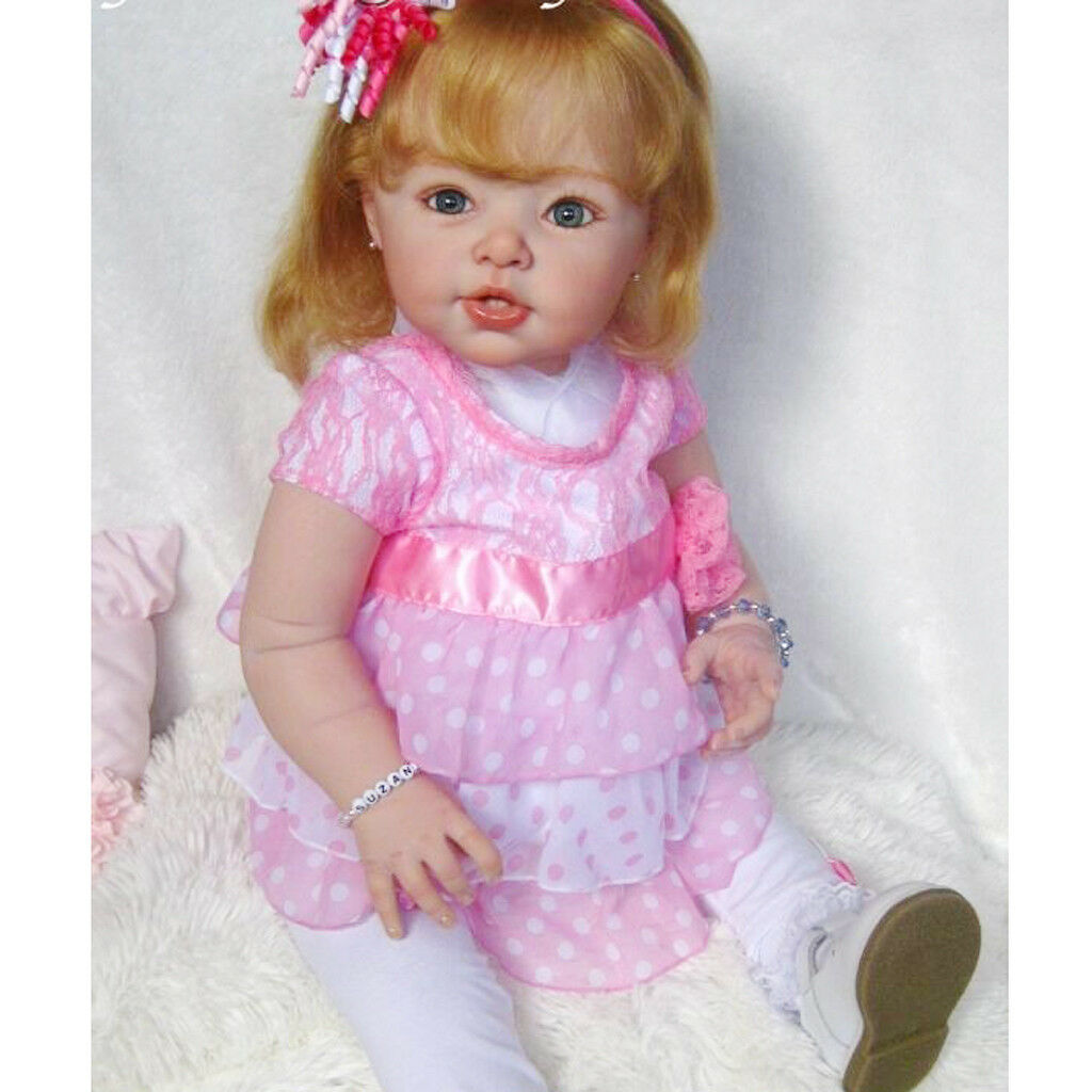 Big 29inch Unpainted Reborn Full Limb Mold Cloth Body Set Baby Supplies DIY