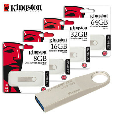 Kingston DTSE9H 16GB 32GB DataTravelerSE9 USB 2.0 Flash Capless Pen Drive