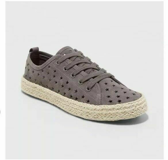 e116303f68bc96 Universal Thread Womens Jena Espadrille Lace up SNEAKERS Gray Size 11 for  sale online