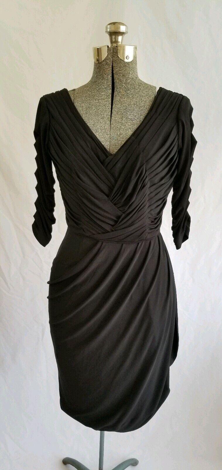 VINTAGE J. Peterhomme noir moulante robe de soirée Wrap Jupe Féminine Taille 0