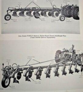 John Deere F365H F375H Drawn Moldboard Plow Parts Catalog
