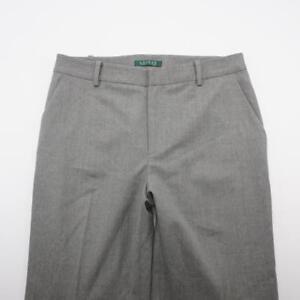 LAUREN By Ralph Lauren Stretch Lined Wool Dress Career Pants Grey Womens 8