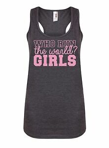 Who-Run-The-World-GIRLS-Women-039-s-Racerback-Vest-Lemonade-Formation-Tank-Top