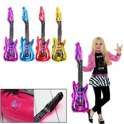 Doppelsitzer aufblasbarer Gitarre Neon Geburtstag Disco Par Hen Kostüm M2C1 M5S1