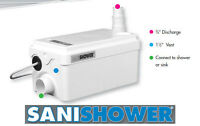 Saniflo Sanishower 010 Gray Water / Drain Water Pump For Shower And Sink