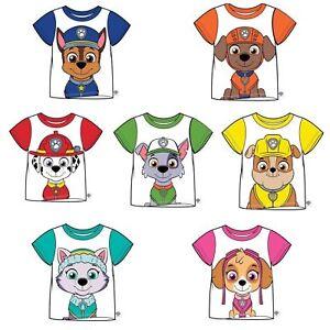 Boys-Girls-Kids-Genuine-Official-PAW-Patrol-T-Shirt-Character-Short-Sleeve-Top