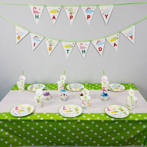 62pcs//lot pour 12 enfants Dinosaure Thème Fête D/'Anniversaire Décoration de Table Set