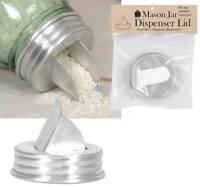 Mason Canning Jar Dispenser Lid Top - Grain Rice Beans Staples - Aluminum
