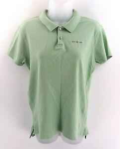 CALVIN-KLEIN-Jeans-pour-Femme-Polo-Shirt-M-Medium-coton-vert