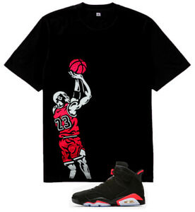 ba4174b25312 Details about Infrared White Fadeaway Jumper vi tshirt match air Jordan 6  Retro Black Infrared