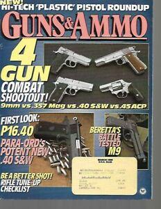 Guns & Ammo Handguns Magazine March 1995 Beretta M9, Para-Ord's .40 S&W