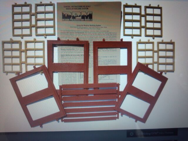 DPM 2 Story Victorian Window HO Scale Building Kit Model Trains Diorama #30144