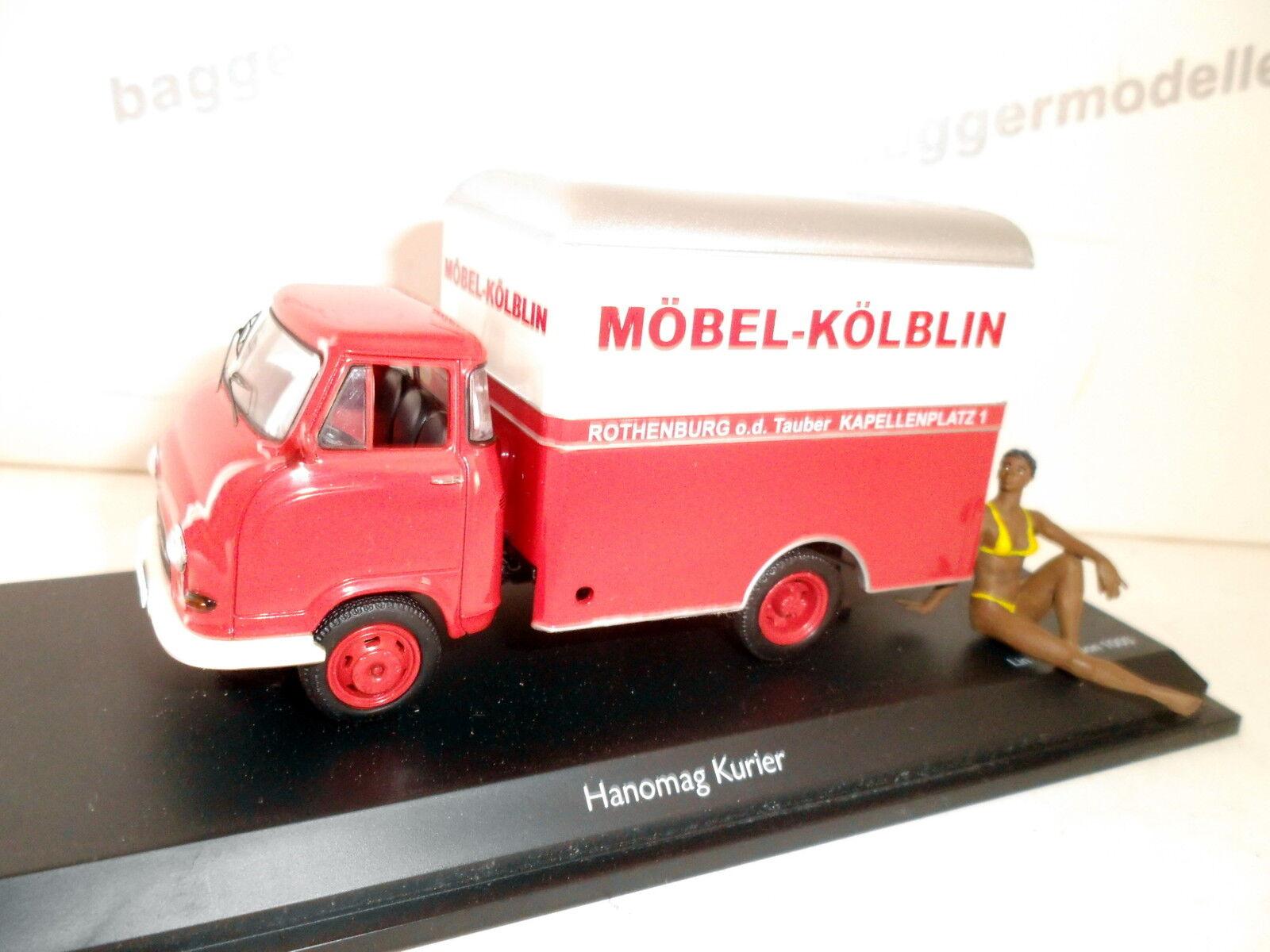 HANOMAG courrier Boîte voiture  meubles kölblin  schuco 1 43