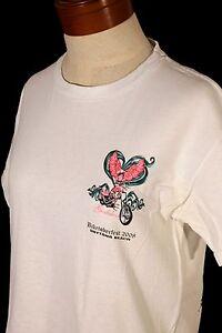 BIKETOBERFEST '08 DAYTONA BEACH Women's Size S Small White T-Shirt- Biker Tee